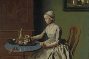 Голландская девушка за завтраком