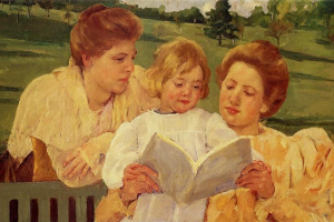 Мэри Кассат. Чтение в саду