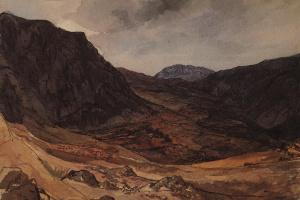 """Долина Дельфийская. Из иллюстраций для """"Атласа к путевым запискам"""" гр. В.П. Давыдова 1835 года, изданным в 1840 году"""