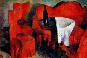 Robert Rafailovich Falk. Red furniture