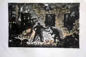 Ночной штурм (Новороссийский десант). Подпись автора