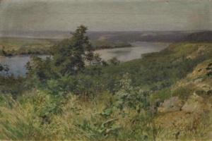 Григорий Федорович Ярцев. Пейзаж с рекой