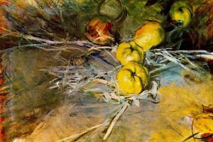 Джованни Больдини. Натюрморт с яблоками