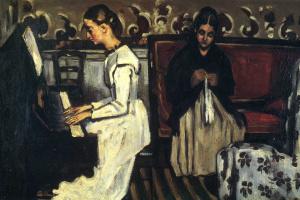 """Поль Сезанн. Девушка у пианино (Увертюра к """"Тангейзеру"""")."""