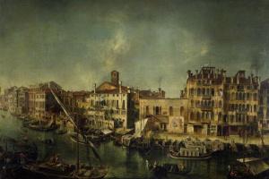 Микеле Мариески. Вид Большого канала в Венеции с Фондамента дель Вин