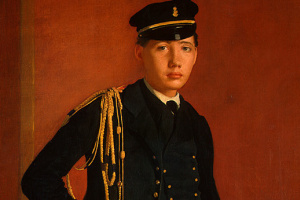 Portrait of Achille De Gas in the uniform of a cadet ( fragment)