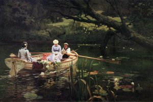 On the boat. Abramtsevo