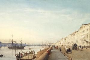 Эдуард Гертнер. Английская набережная в Петербурге