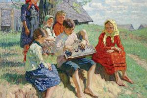 Николай Петрович Богданов-Бельский. Концерт на гуслях