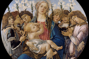 Madonna with singing angels,