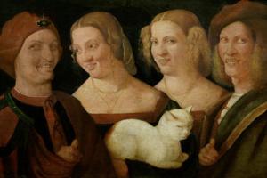 Никколо Франджипане. Четыре смеющихся человека с кошкой