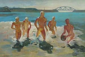 Александр Александрович Дейнека. Мальчики, выбегающие из воды