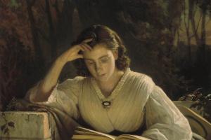 Иван Николаевич Крамской. За чтением. Портрет Софьи Николаевны Крамской, жены художника