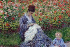 Камилла Моне с ребенком