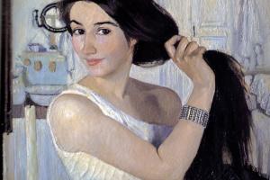 Zinaida Serebryakova. Over the toilet. Self-portrait