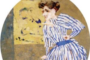 Жан Эдуар Вюйар. Полосатое платье