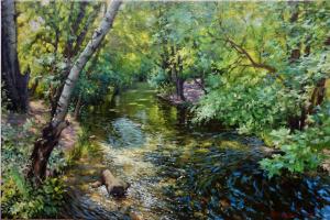 Георгий Харченко. Лесной ручей