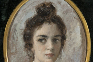 Valentin Aleksandrovich Serov. Portrait of a woman, perhaps yakunchikovoy. Etude