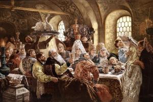 Константин Егорович Маковский. Боярский свадебный пир в XVII веке