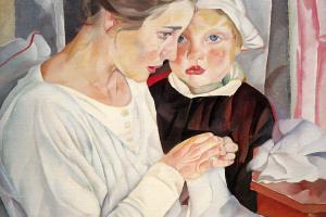 Борис Дмитриевич Григорьев. Мать и дитя