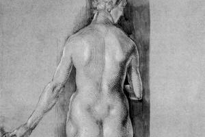 Albrecht Durer. Nude figure from the back