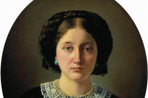 Portrait of Varvara Alexandrovna Jordan, nee Pushchina