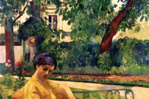 Henri Manguin. Jeanne in yellow dress, Neuilly
