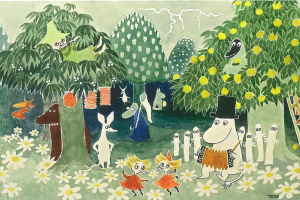 Tuva Jansson. The cover of the book by T. Jansson about Moomin trolls