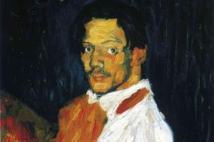 Пабло Пикассо. Я, Пикассо (Портрет мужчины в белой рубашке)
