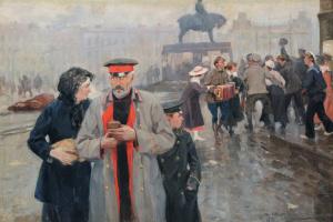 Иван Алексеевич Владимиров. На улицах Петрограда