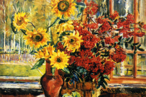 Sunflowers and mountain ash. 1952