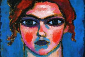 Алексей Георгиевич Явленский. Портрет молодой женщины с зелеными глазами