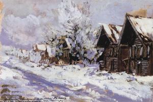 Konstantin Alekseevich Korovin. In the winter