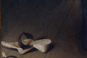 Ян ван Эйк. Портрет четы Арнольфини (фрагмент)