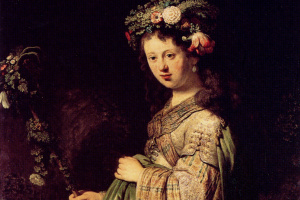 Рембрандт Харменс ван Рейн. Саския в образе Флоры
