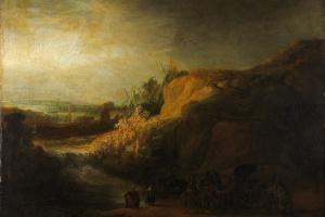 Рембрандт Харменс ван Рейн. Пейзаж с крещением