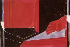 """Сцена смерти молодого сирийца. Эскиз декорации к трагедии О. Уайльда """"Саломея"""". Московский Камерный театр"""