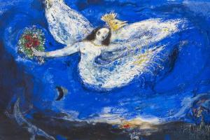 Эскиз занавеса к балету «Жар-птица» в Нью-Йорке