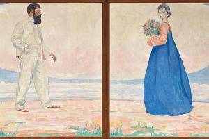 Куно Амье. Парный портрет художника и его жены