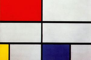 Композиция №3 с красным, желтым и синим