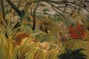 Тигр в тропическую бурю