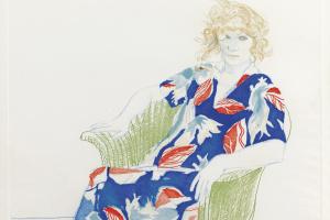 Дэвид Хокни. Плетеное кресло
