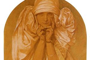 Альфонс Муха. Портрет дочери художника, Ярославы