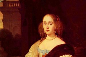 Франц ван Мирис Старший. Портрет молодой дамы
