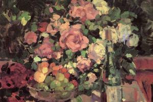 Константин Алексеевич Коровин. Розы, фрукты, вино