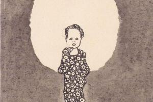 Эгон Шиле. Ребенок с нимбом на цветущем лугу