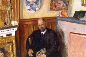 Pierre Bonnard. Portrait of Ambroise Vollard with a cat