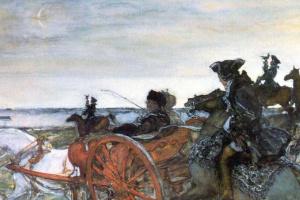 Валентин Александрович Серов. Выезд Екатерины II на соколиную охоту