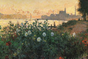 Argenteuil, flowers at the river Bank
