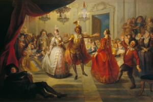 Шарль-Антуан Куапель. Дон Кихот на балу у Дона Антонио Морено